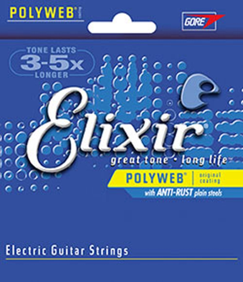 Light Electric Guitar Strings with POLYWEB Coating