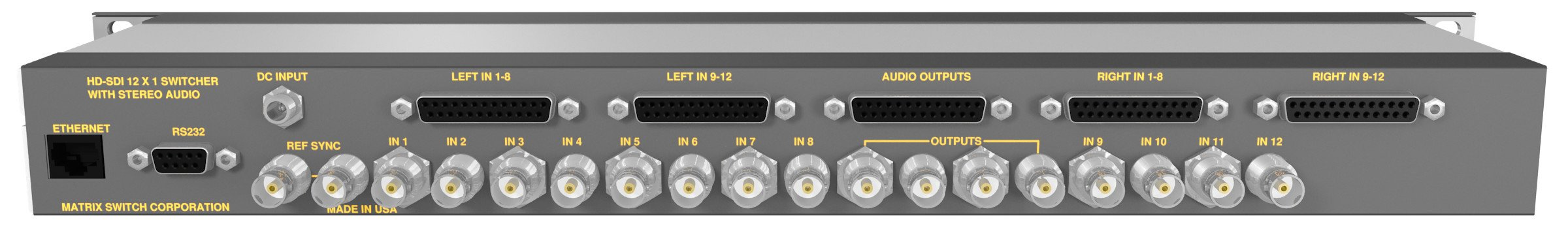 12in/1out 3G-SDI Switcher