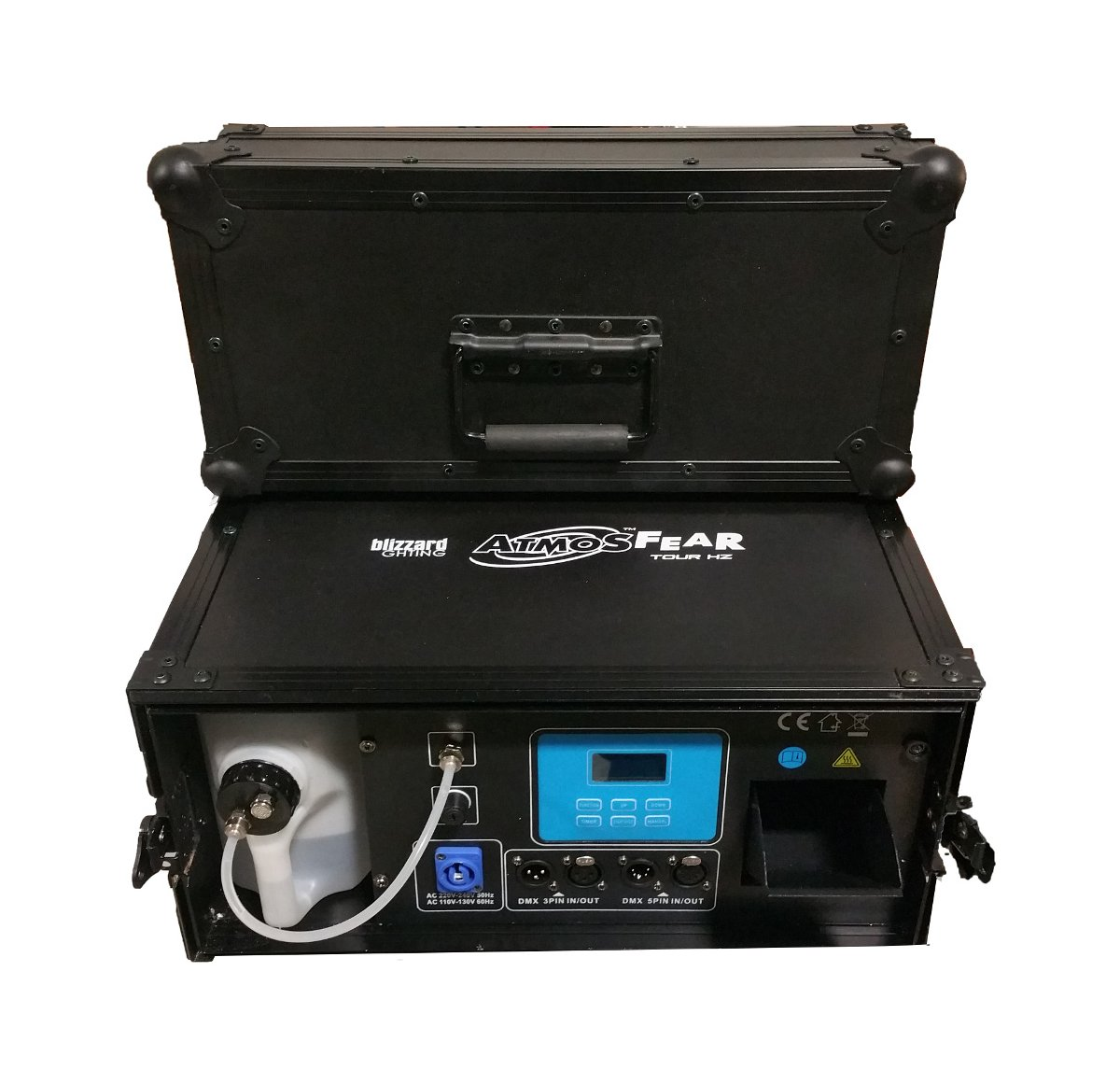 DMX-Controllable Hazer with Built-In Flight Case
