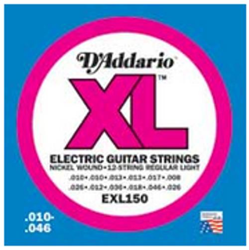 D`Addario EXL150 Regular Light 12-String Electric Guitar Strings EXL150