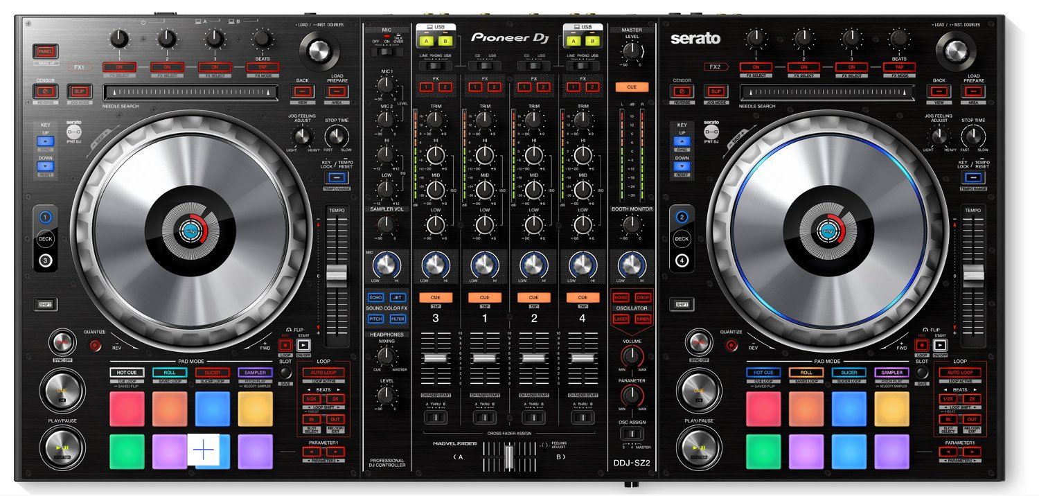 pioneer ddj sz2 4 channel professional dj controller for serato full compass systems. Black Bedroom Furniture Sets. Home Design Ideas