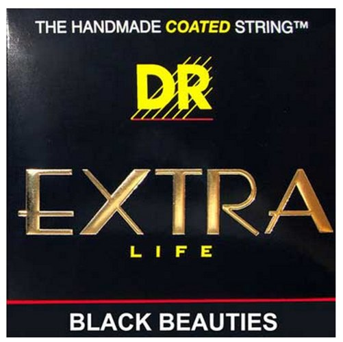 DR Strings BKE-12 Extra Heavy Black Beauties Coated Electric Guitar Strings BKE-12