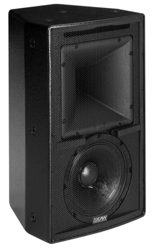 Black 2 Way Speaker with Single Amp