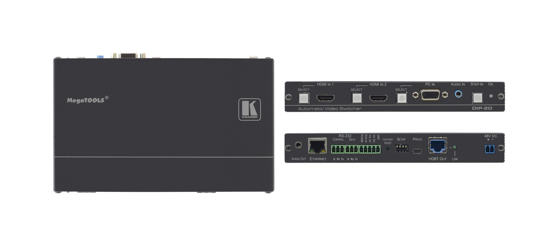 4K60 4:2:0 HDMI & VGA Step–In PoE Transmitter