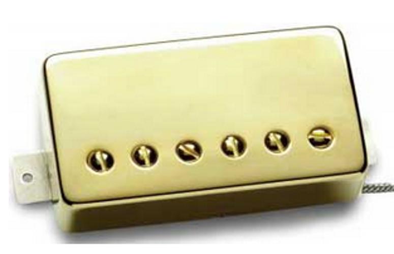Humbucking Guitar Pickup, Pearly Gates, Bridge, Gold Cover