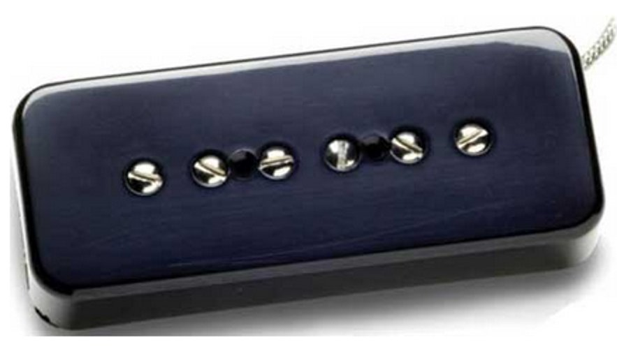Single-Coil Guitar Pickup, Hot Soapbar, Bridge, Black