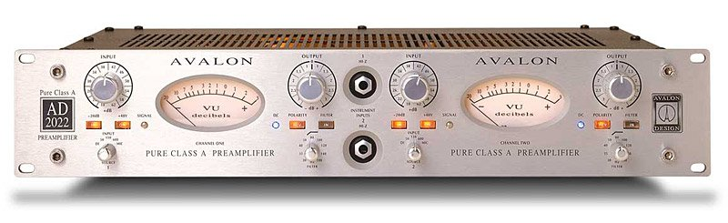 Avalon AD2022 [RESTOCK ITEM] Dual Mono Microphone Preamplifier AD2022-RST-01