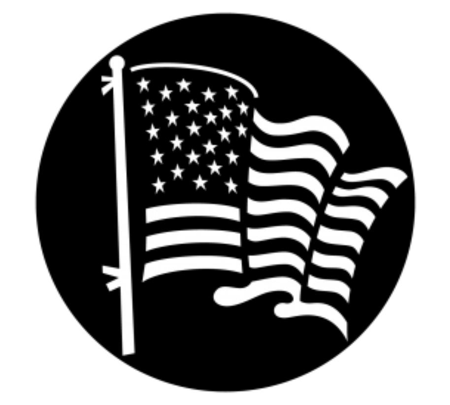 American Flag Steel Gobo