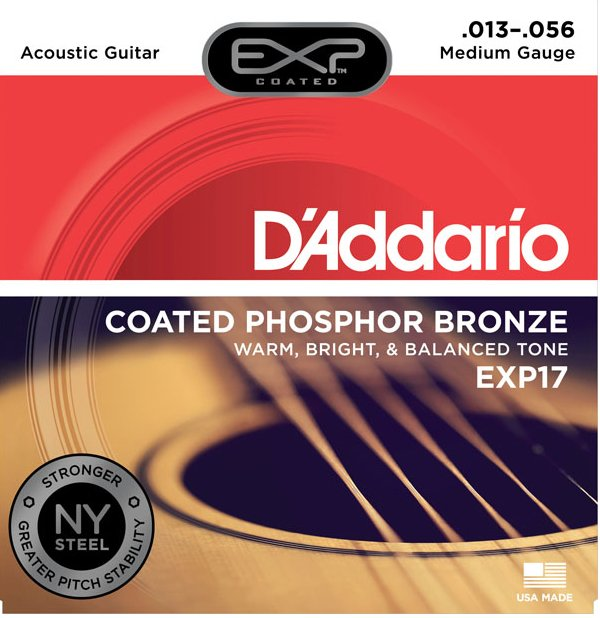 D`Addario EXP17 Medium EXP Coated Phosphor Bronze Acoustic Guitar Strings EXP17