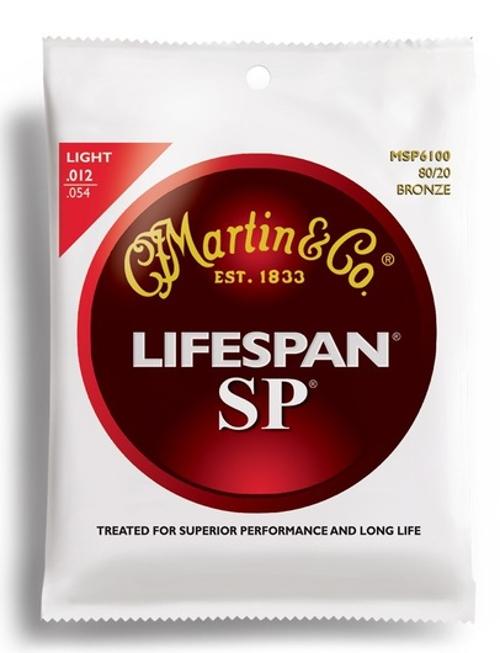 Light Martin SP Lifespan 80/20 Bronze Acoustic Guitar Strings