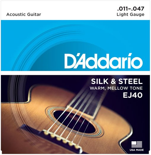 Light Silk & Steel Acoustic Guitar Strings