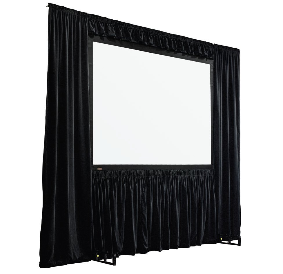 Draper Shade and Screen StageScreen Dress Kit, model 384002 in Black IFR Velour, with Case 384002