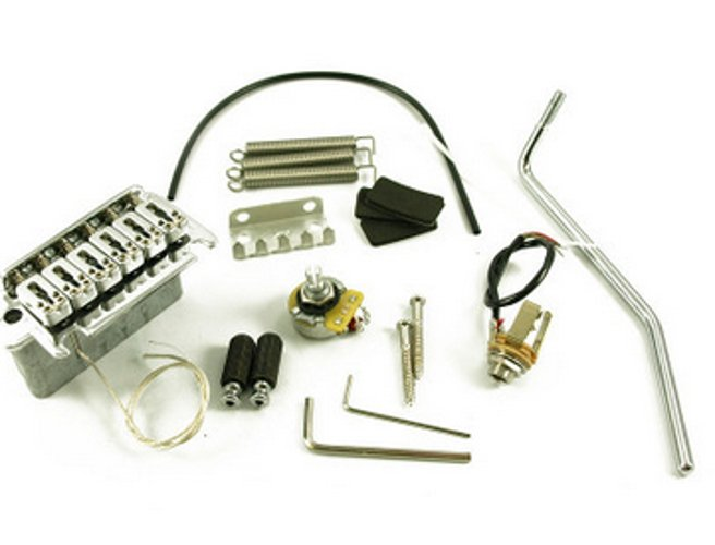 LR Baggs XB-USC Electric Guitar 2-Post Piezo Tremolo Bridge in Chrome XB-USC