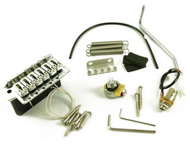 Electric Guitar 6-Screw Piezo Tremolo Bridge in Chrome