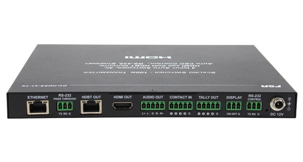 4 x 1 Scaling Switcher with HDBaseT and HDMI