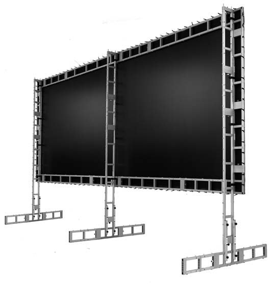 "108"" x 144"" Portable Projection Screen with Matt White XT1000V Screen"