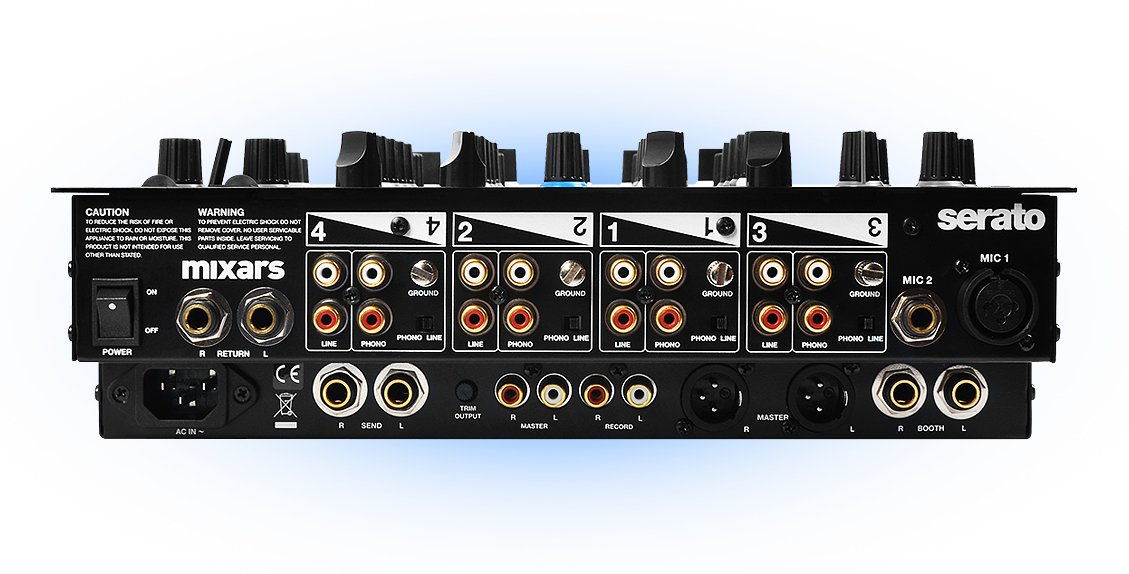 Professional 4 -Channel Mixer and Controller for Serato Dj with Soundcard