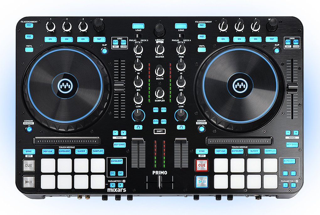 2-Channel Controller and Mixer with Standalone Effects for Serato Dj
