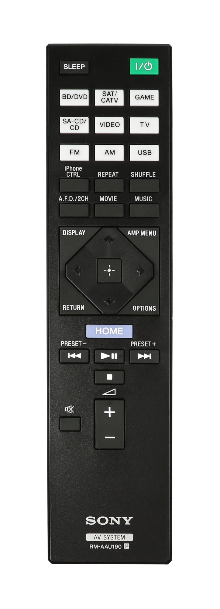 Remote for STR-DH750 and STR-DH550