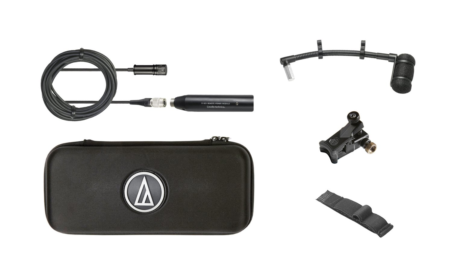 """Audio-Technica ATM350U Cardioid Condenser Instrument Microphone with Universal Clip-On Mounting System, 5"""" Gooseneck ATM350U"""