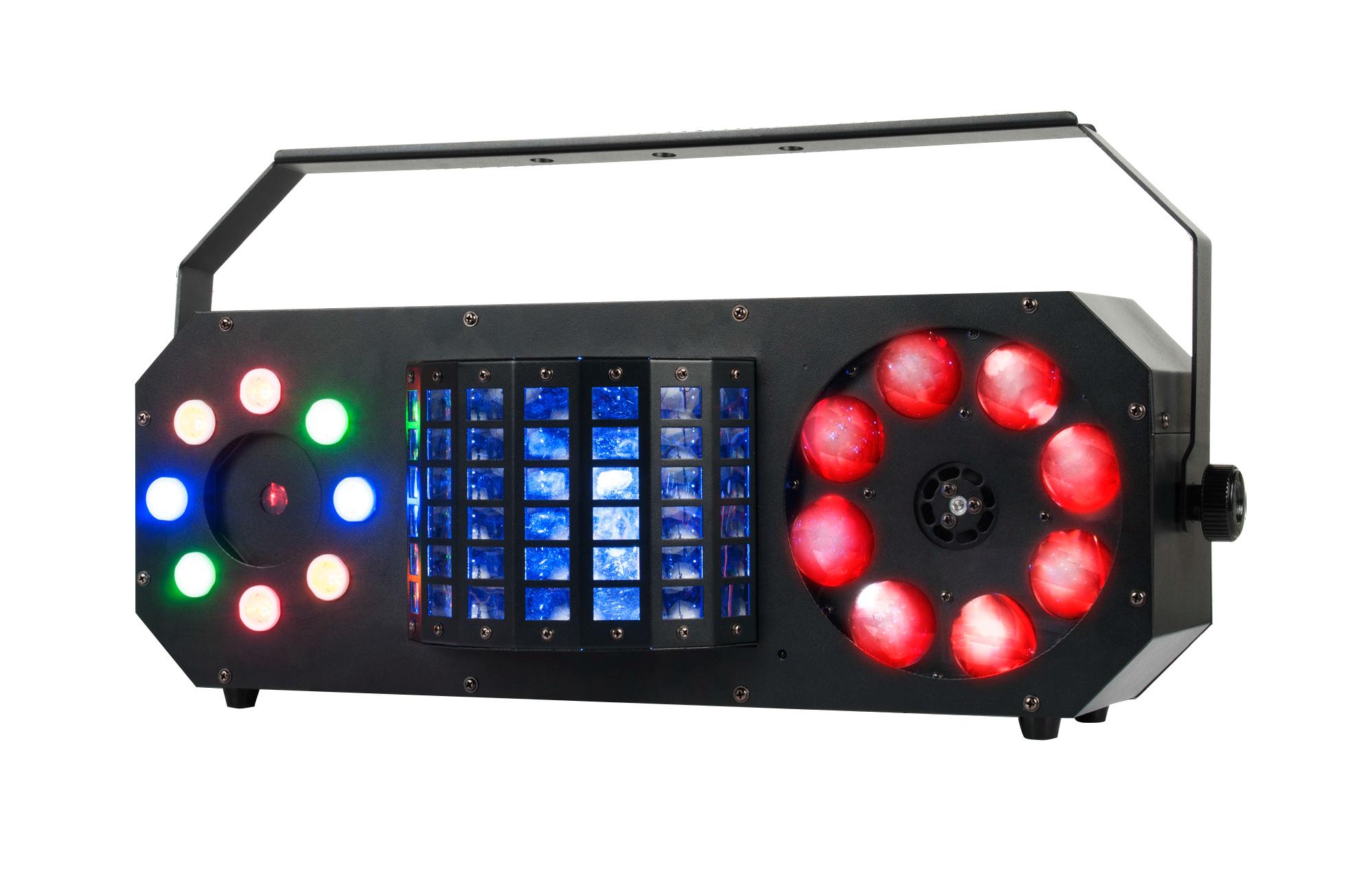 4-FX-IN-1: Gobo, Moonflower, Strobe, & Laser Effect Fixture
