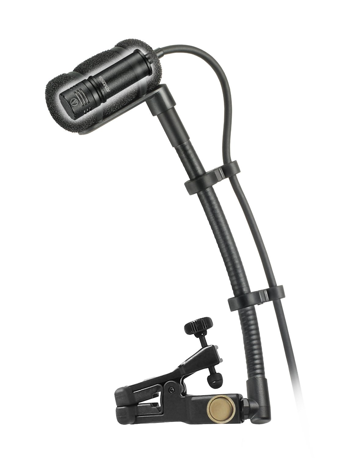 Cardioid Condenser Clip-on Instrument Microphone with Universal Mounting System