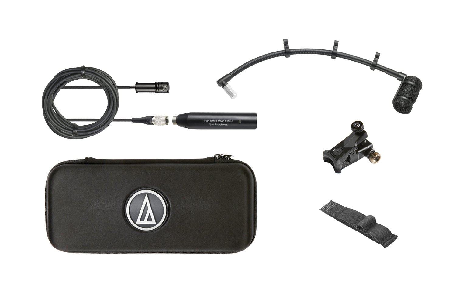 """Cardioid Condenser Instrument Microphone with Universal Clip-on Mounting System, 9"""" Gooseneck"""