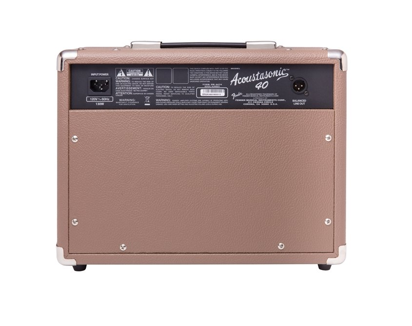 fender acoustasonic 40 40w 2 channel 2x6 5 acoustic combo amplifier full compass systems. Black Bedroom Furniture Sets. Home Design Ideas