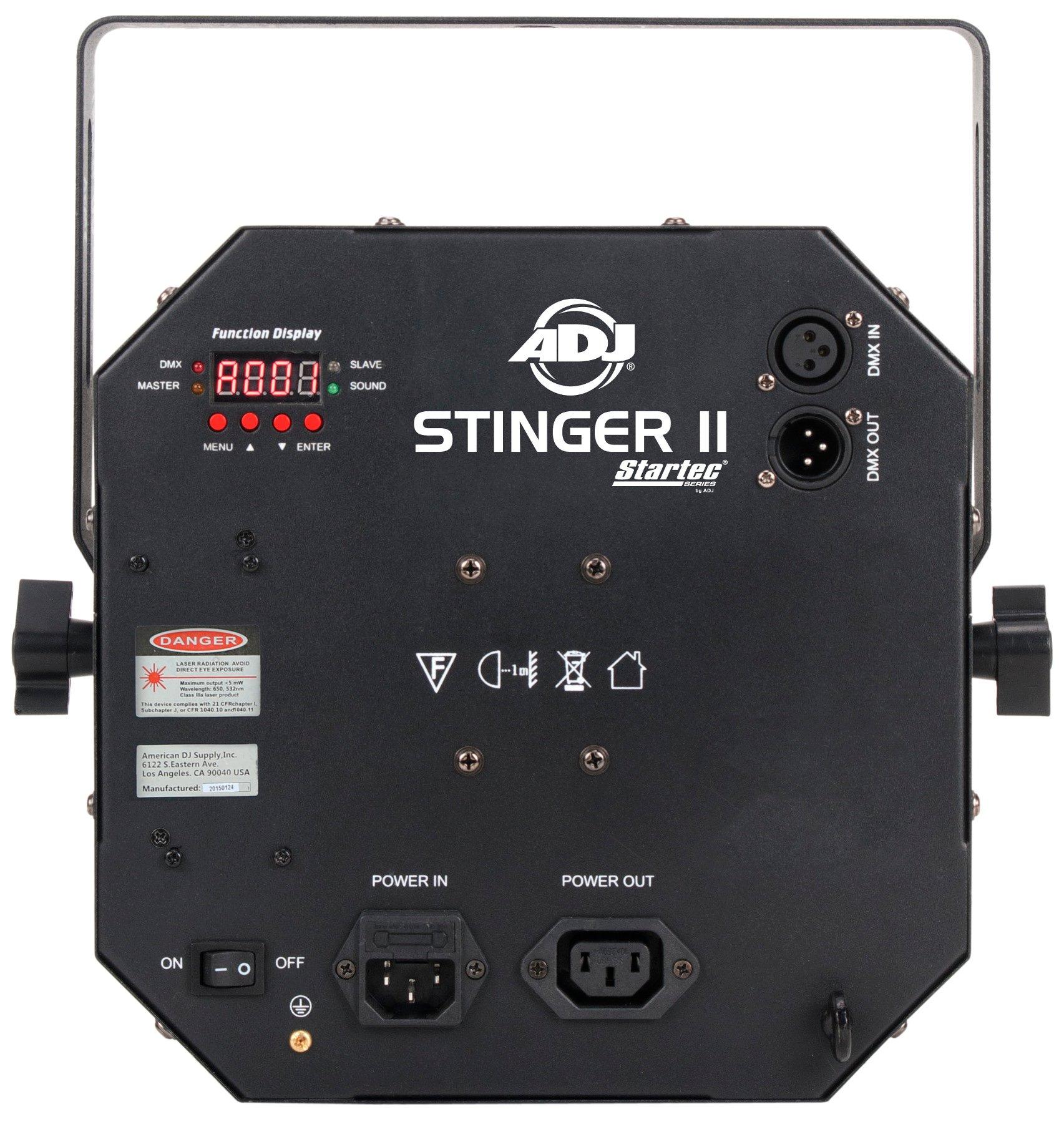 ADJ Stinger II [B-STOCK MODEL] Moonflower Effect with Strobe, Laser, and UV STINGER-II-BSTOCK