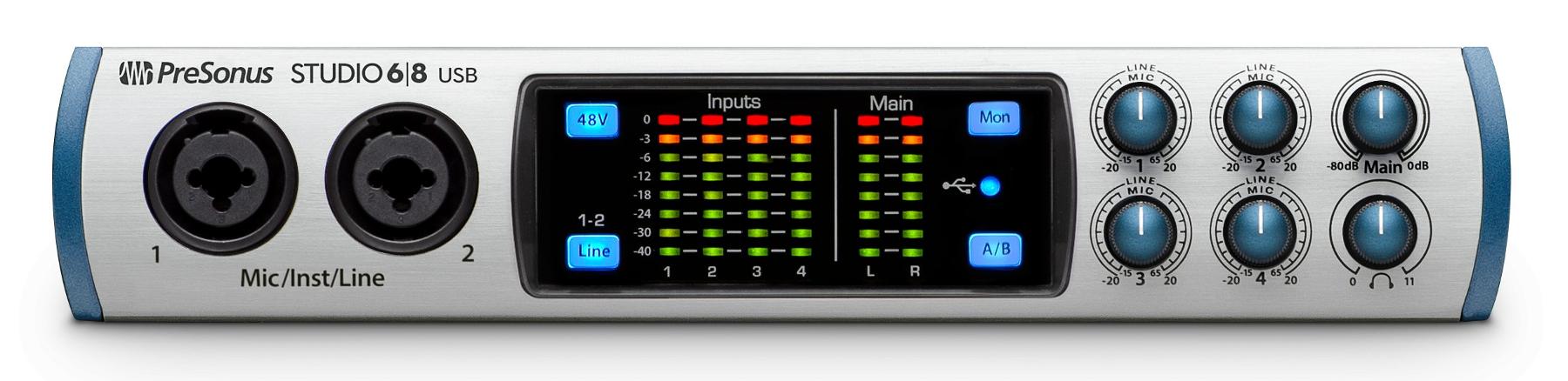 6x6 USB 2.0 Audio/MIDI Interface