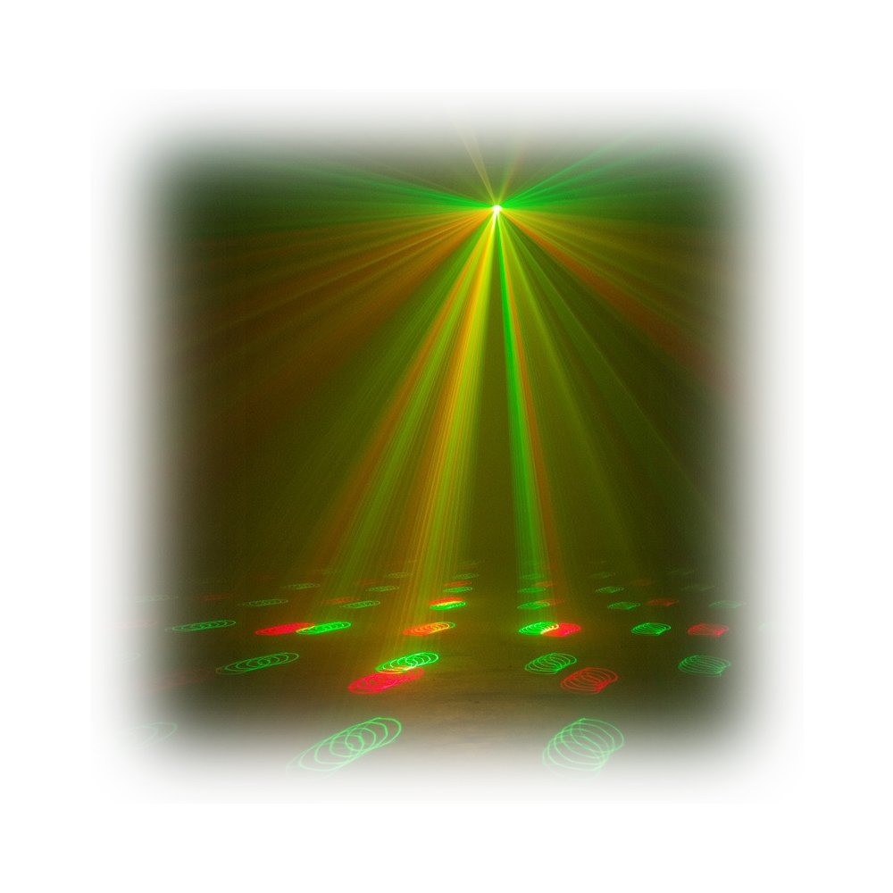 Compact Laser Fixture with Red & Green Lasers
