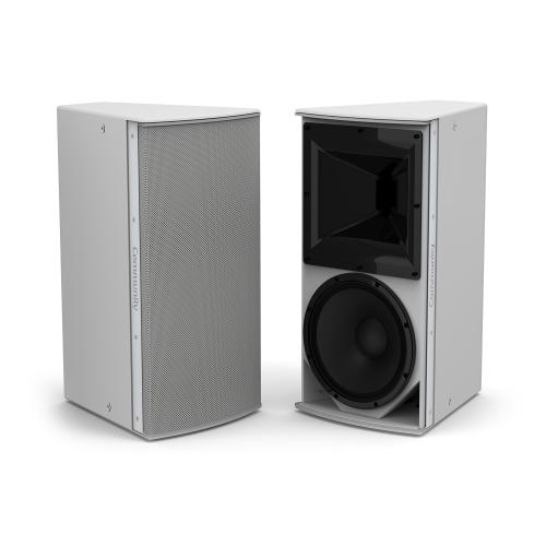 "Grey, Medium Power 12"" 2-Way 90 x 40 Weather-Resistant"