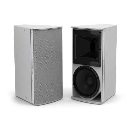 "Grey, Medium Power 12"" 2-Way 90 x 90 Weather-Resistant Loudspeaker"