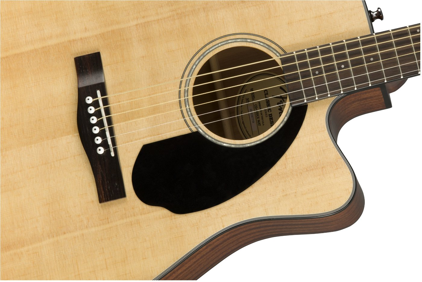 Dreadnought Cutaway Acoustic-Electric Guitar with Rosewood Fingerboard