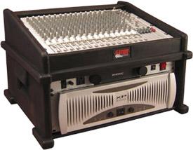 DJ Rack Case (10-Space Top, 6-Space Bottom)