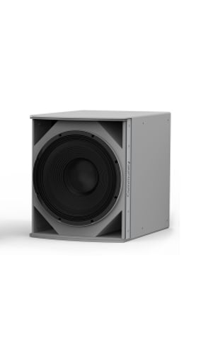 "Weather-Resistant Medium Power 15"" Subwoofer in Grey"