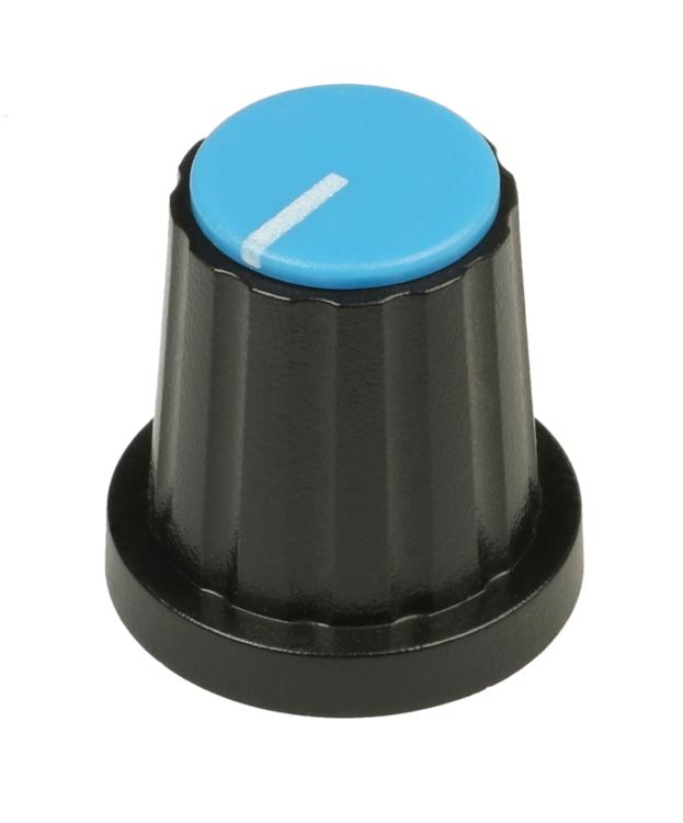 WT Series Blue Rotary Knob