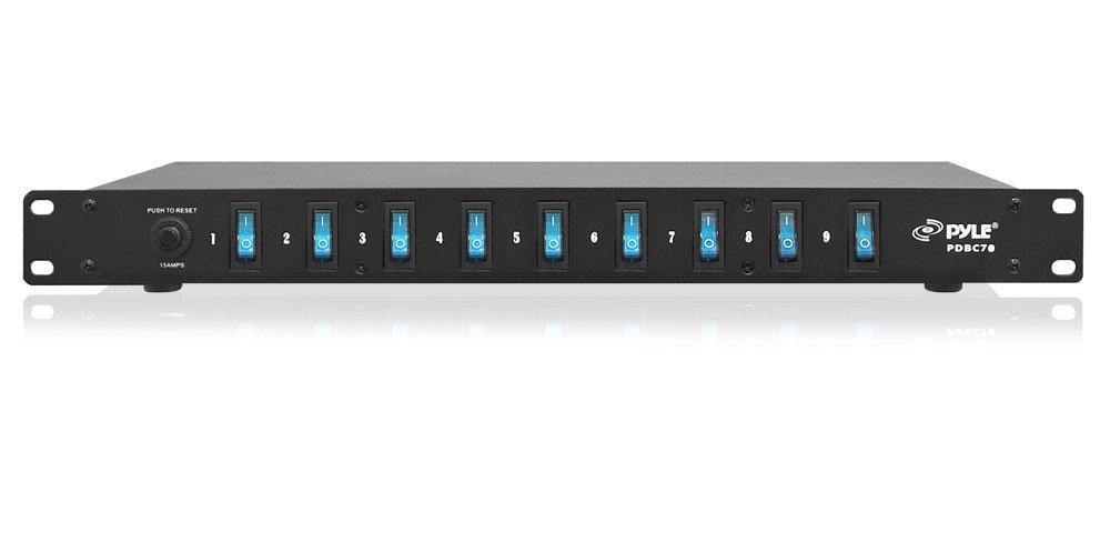 15A 9-Outlet Rackmount Power Supply with Built-In Switches, 1800VA