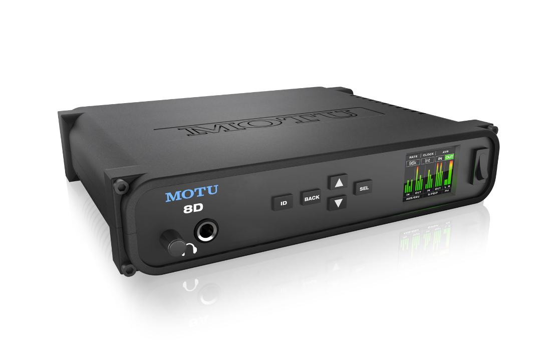 MOTU 8D-MRK 8x8 AES And S/PDIF USB 2 0, AVB Ethernet Audio