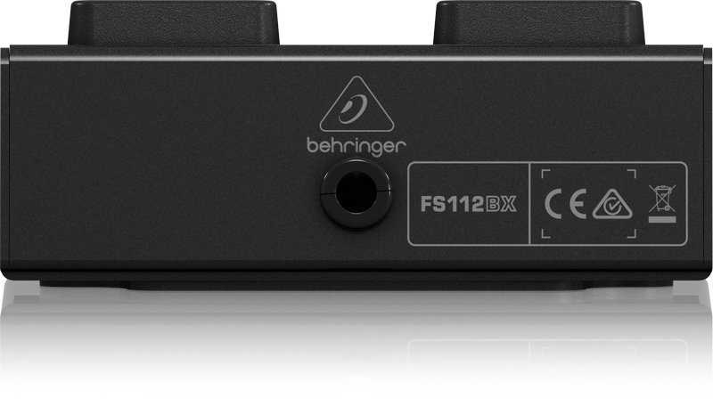 Behringer FS112BX Heavy-Duty 2-Button Footswitch with Metal Case and Control LEDs FS112BX