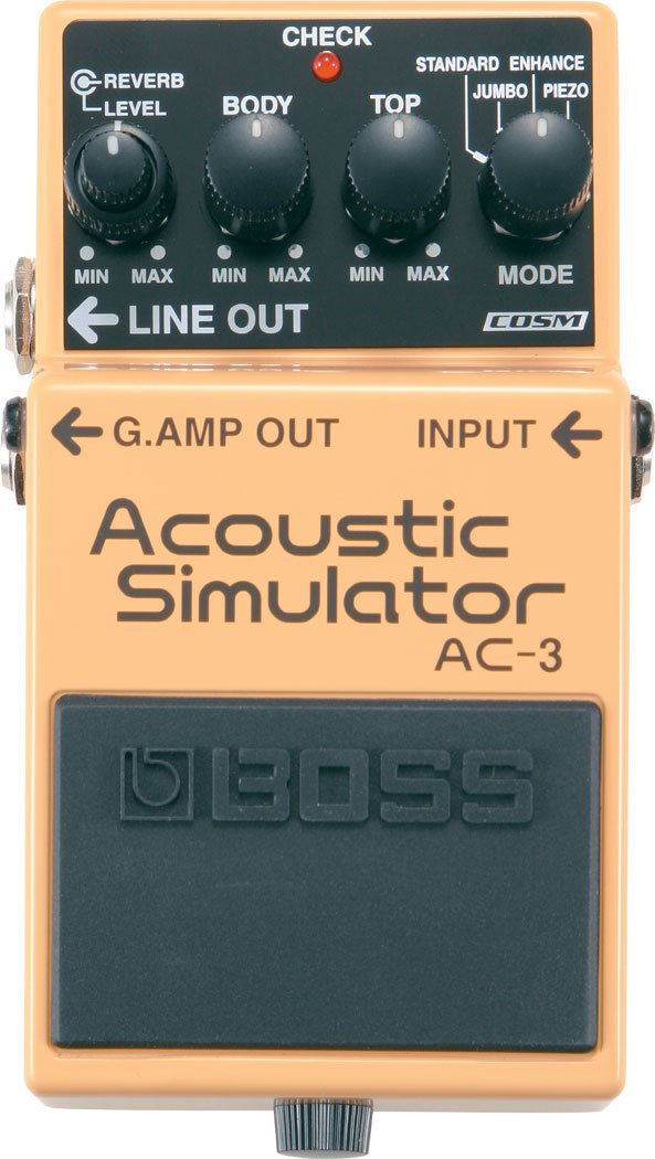 Acoustic Simulator Pedal, Advanced Electric-to-Acoustic Guitar Modeling