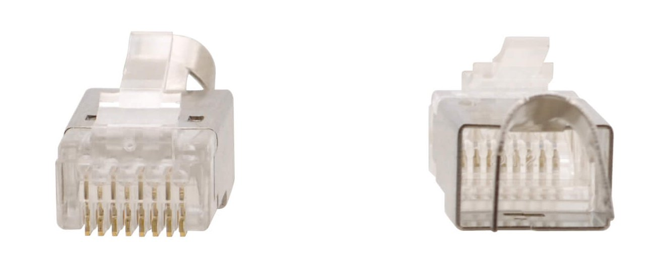 K-LAN Crimp-Style Shielded RJ45 Connectors for Category Cables