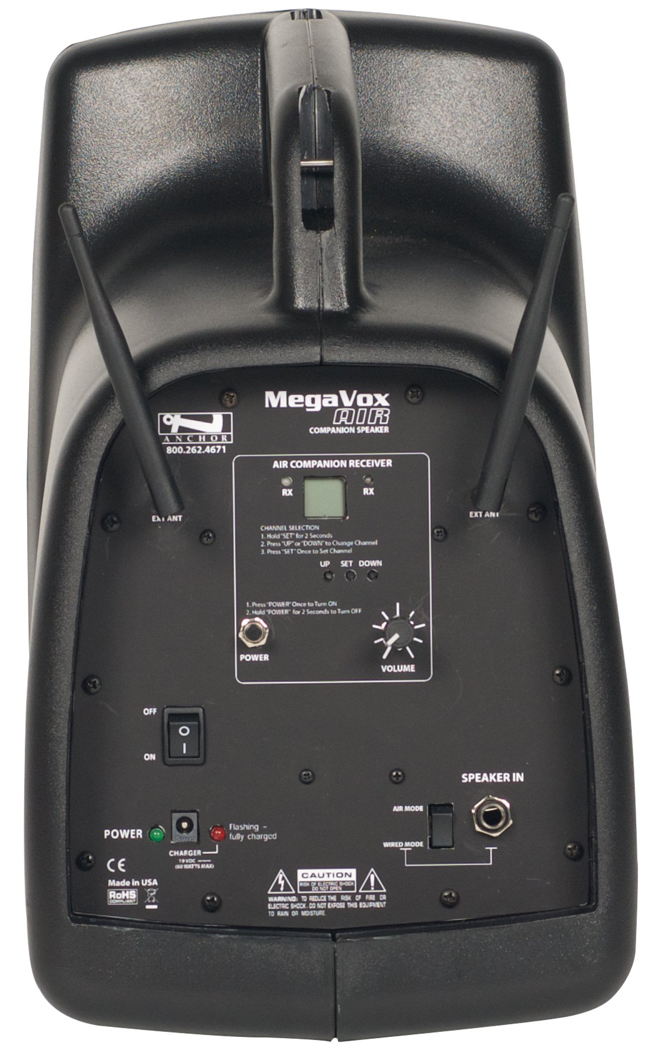 MegaVox System with One AIR Wireless Transmitter and Two Wireless Receivers
