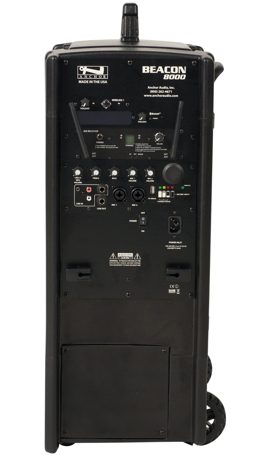 Anchor BEA-8000RU1  Beacon Line Array with built-in Bluetooth, AIR Wireless Receiver, and One Wireless Receiver BEA-8000RU1