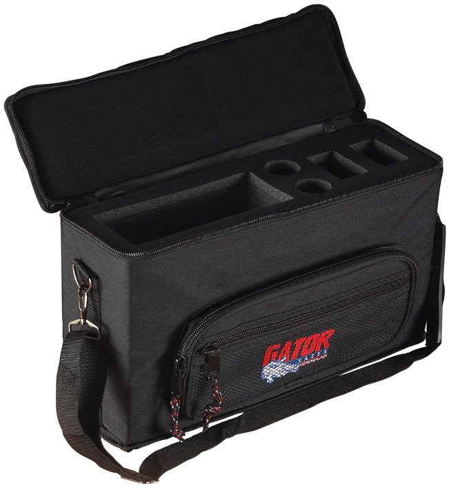Bag for 2 Wireless Microphone Systems