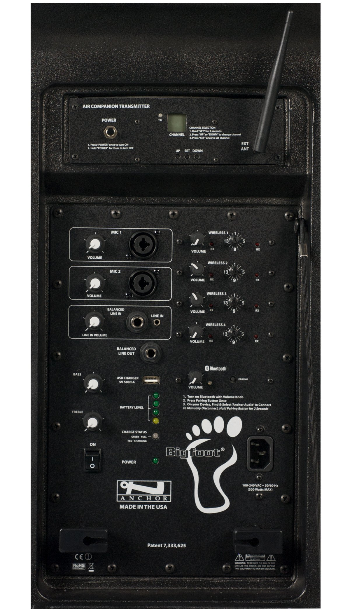 Bigfoot System with One AIR Wireless Transmitter and Three Wireless Receivers