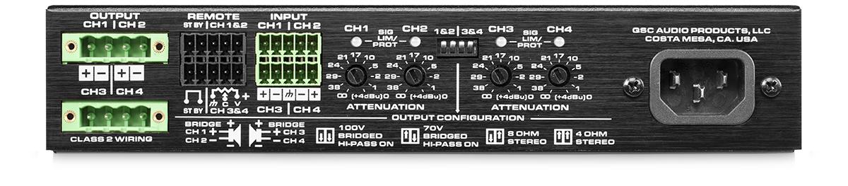 100W - 4-Channel Energy Star Power Amplifier