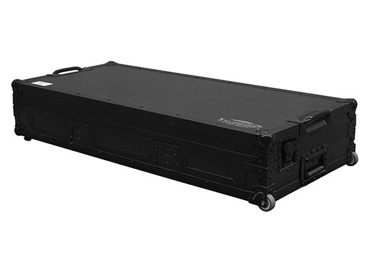 "Black Label Glide Style DJ Coffin Case with Wheels, Holds 12"" Mixer and 2 CD/Media Players"