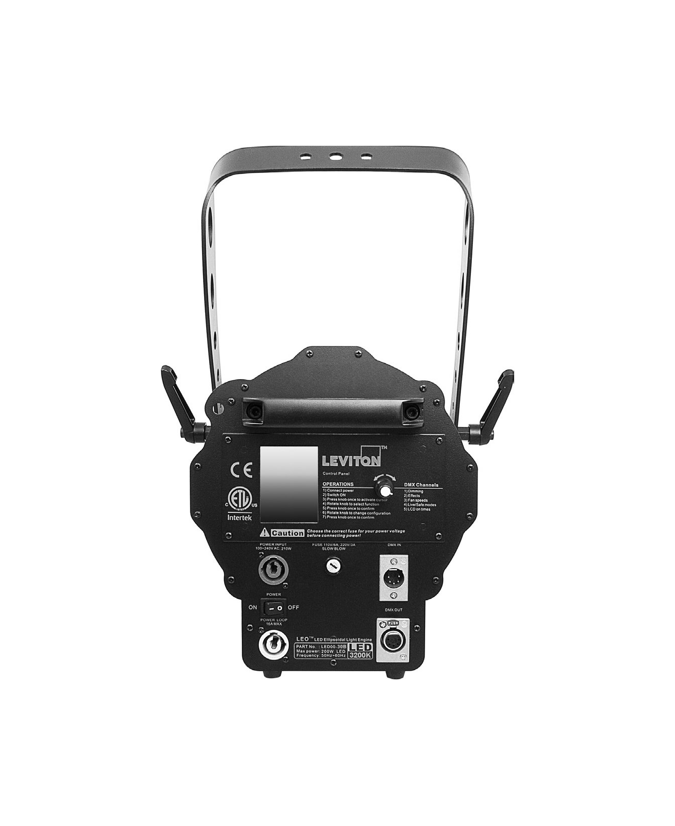 Leviton LED00 30B LEO 3200K LED Ellipsoidal Zoom Fixture in Black ...