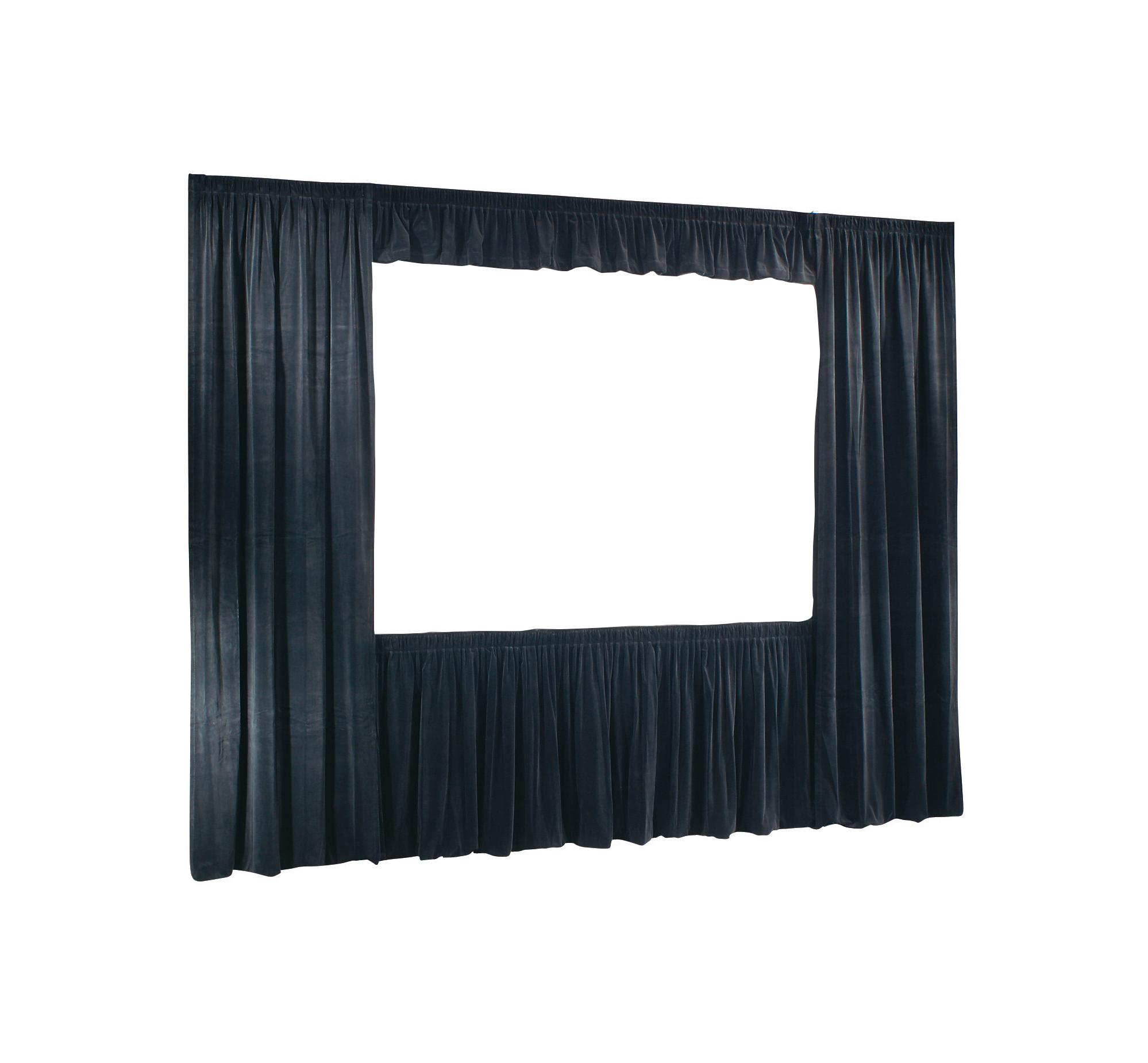 9ft x12ft Cinefold & UFS Velour Drapes Only, in Black